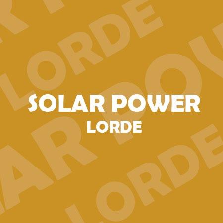 دانلود آهنگ Solar Power از Lorde
